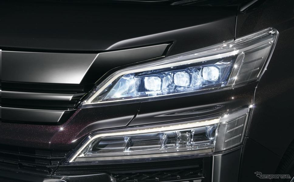 トヨタ ヴェルファイア 3眼LEDヘッドランプ《画像:トヨタ自動車》