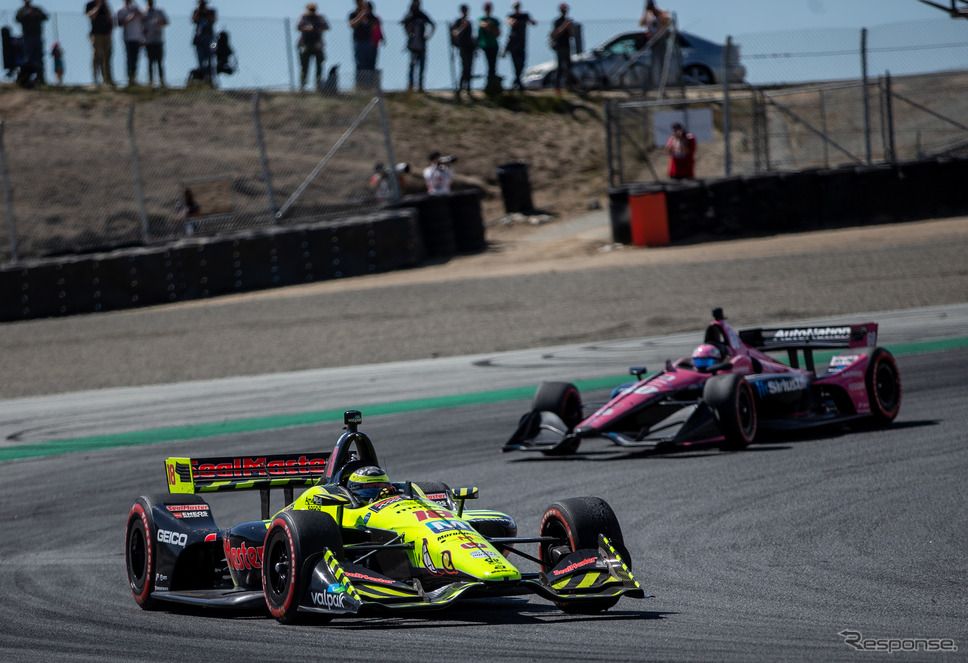 2019年シーズン最終戦におけるデイル・コイン・レーシング陣営のマシン(#18)。《写真提供 INDYCAR》
