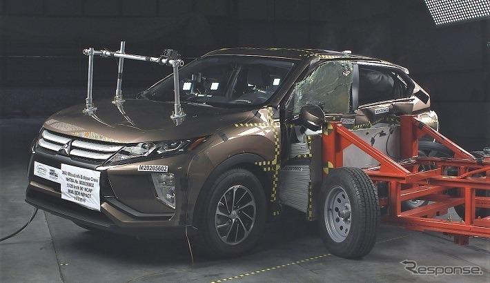 三菱 エクリプスクロス の2020年モデルのNHTSA衝突テスト《photo by NHTSA》