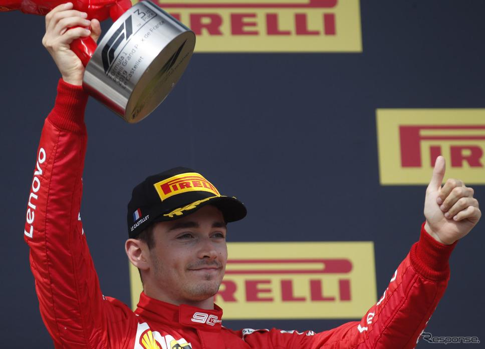 シャルル・ルクレール(写真は2019年シーズン)《写真提供 Pirelli》