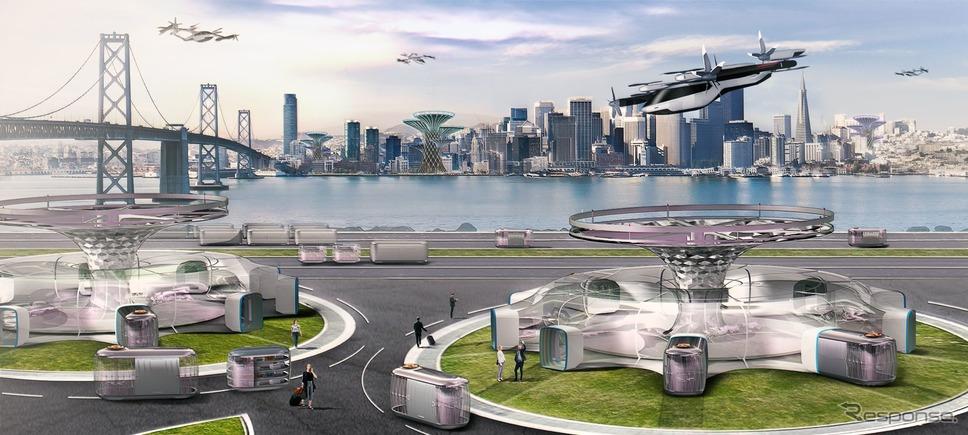 ヒュンダイモーターの空飛ぶ車のイメージスケッチ《photo by Hyundai Motor》