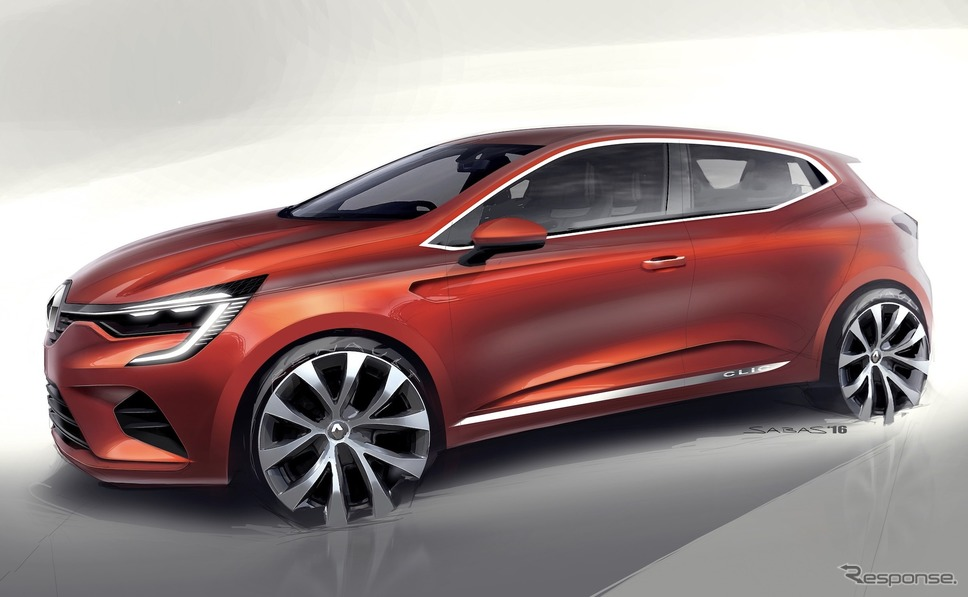ルーテシア新型のデザインスケッチ《sketch by Renault》