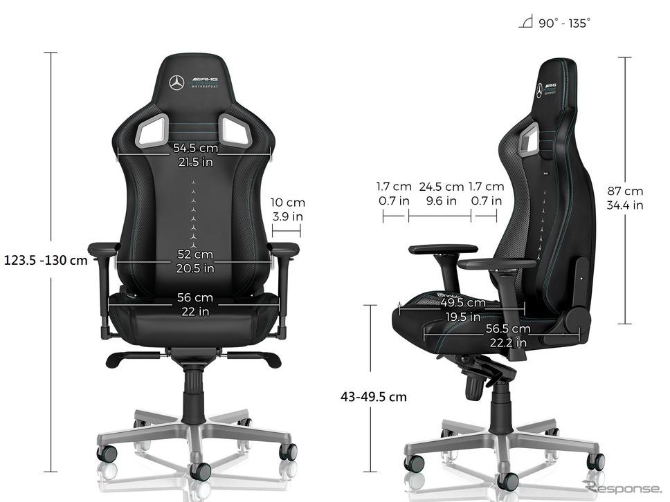 noblechairs EPIC Mercedes-AMG Petronas Motorsport Edition《写真 アーキサイト》