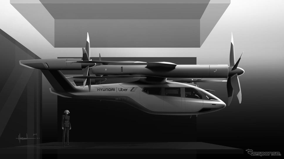 ヒュンダイ初の空飛ぶ車(イメージ)《photo by Hyundai Motor》