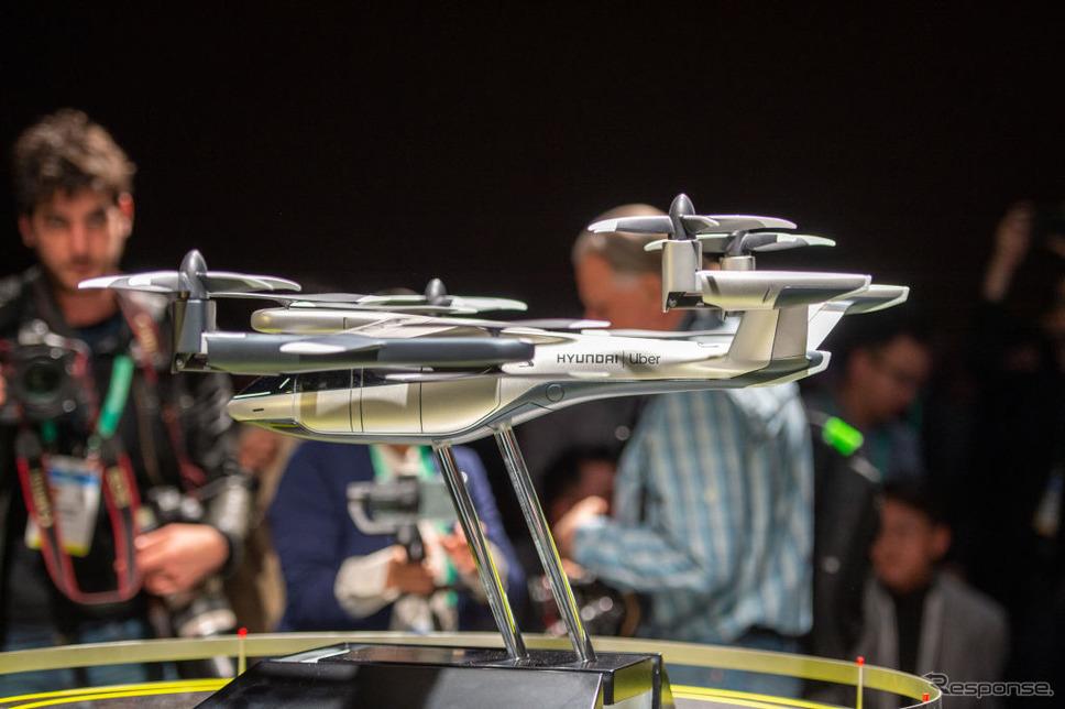 ヒュンダイ初の空飛ぶ車(模型。CES 2020)《photo (c) Getty Images》