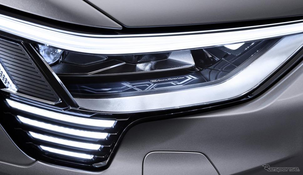 アウディ e-tron スポーツバックのデジタルマトリクスヘッドライト(参考画像)《photo by Audi》
