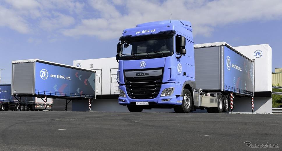ZFの自動運転の大型トレーラー「イノベーショントラック」《photo by ZF》