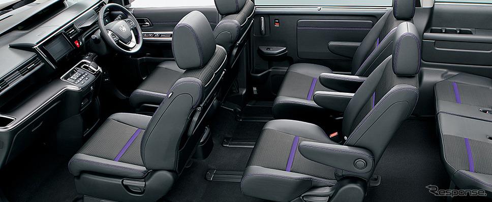 ホンダ ステップワゴン e:HEV スパーダ G・EX ホンダセンシング インテリア(ブラック×パープル<コンビシート>)《画像:本田技研工業》