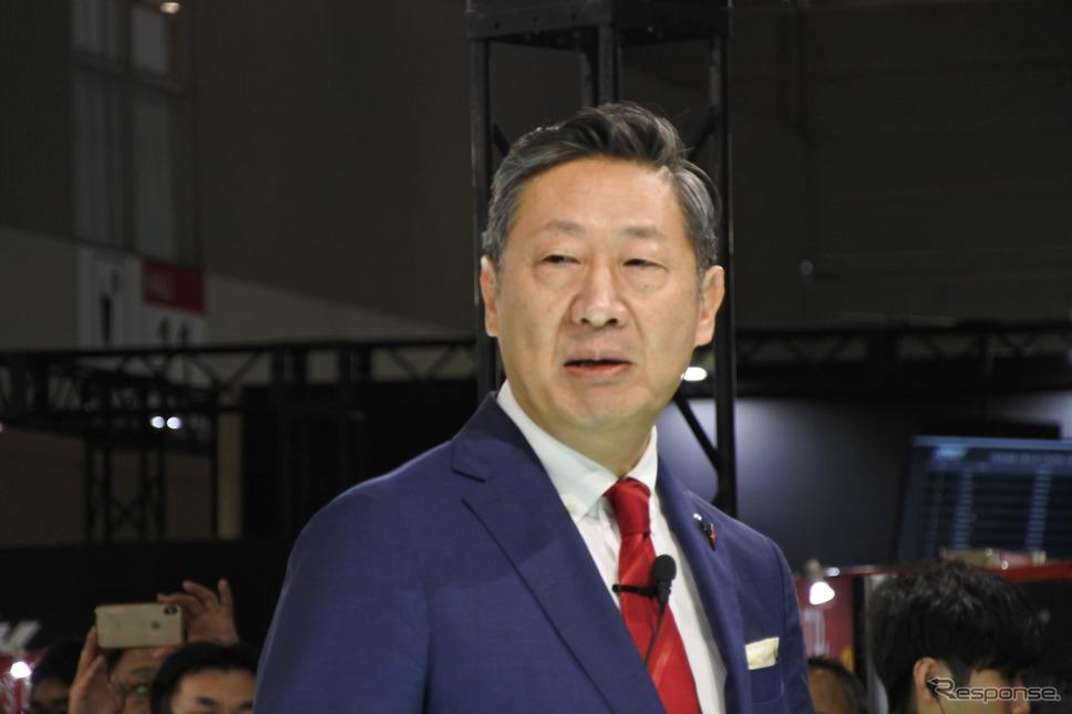 GMジャパン 若松格 社長(東京オートサロン2020)《撮影 小松哲也》