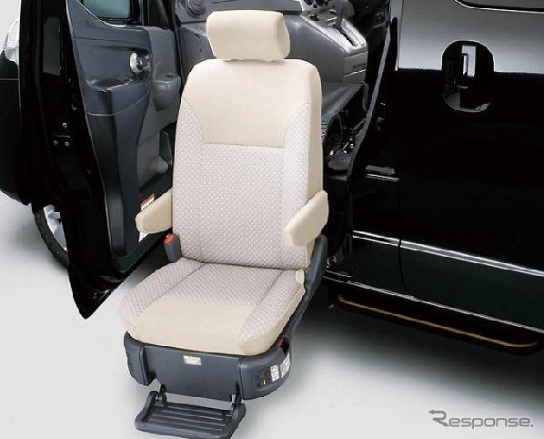 チェアキャブ 助手席スライドアップシートオプション