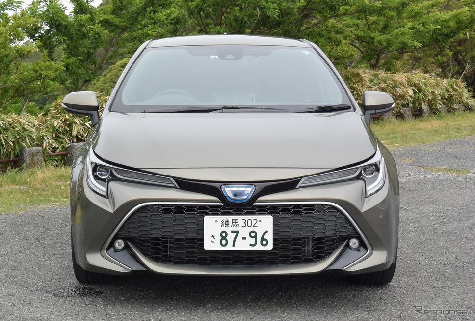 トヨタ カローラスポーツ ハイブリッドG Zのフロントフェイス。トヨタの新世代デザイン言語「キーンルック」の流れを汲んでいるが、欧州主体のモデルのためかシックに仕上がっている。《撮影 井元康一郎》