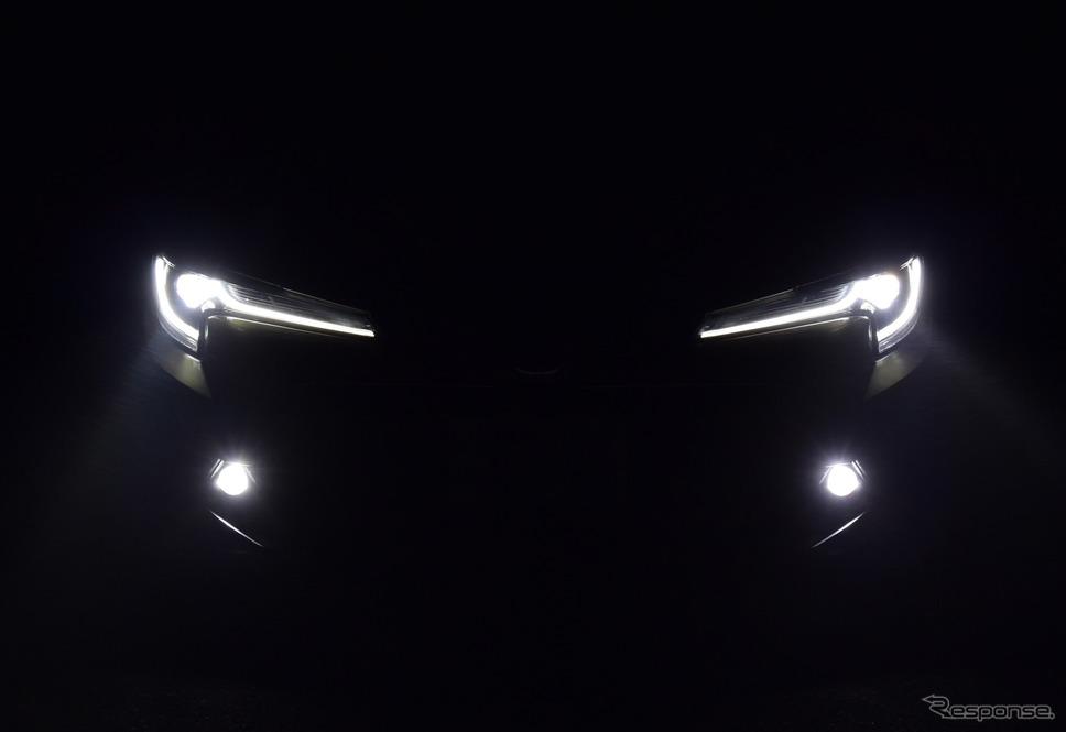 ヘッドランプ点灯時。夜間のほうがより精悍なイメージ。《撮影 井元康一郎》