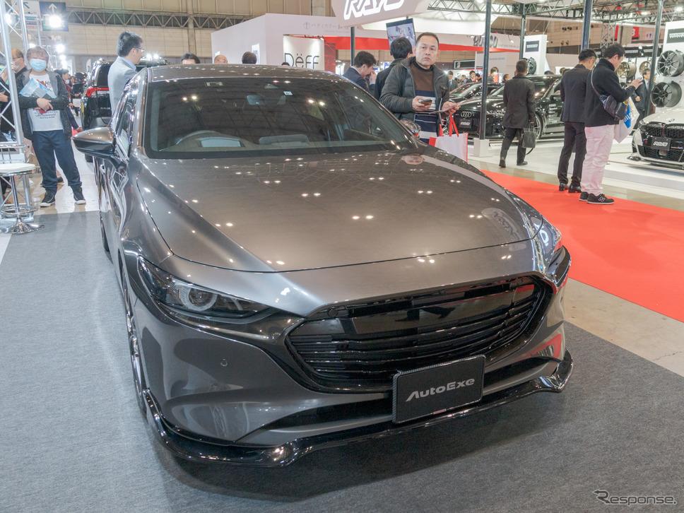 『AutoExe BP-06』を取り付けられたマツダ3デモカーの展示も。(東京オートサロン2020)《撮影 関口敬文》