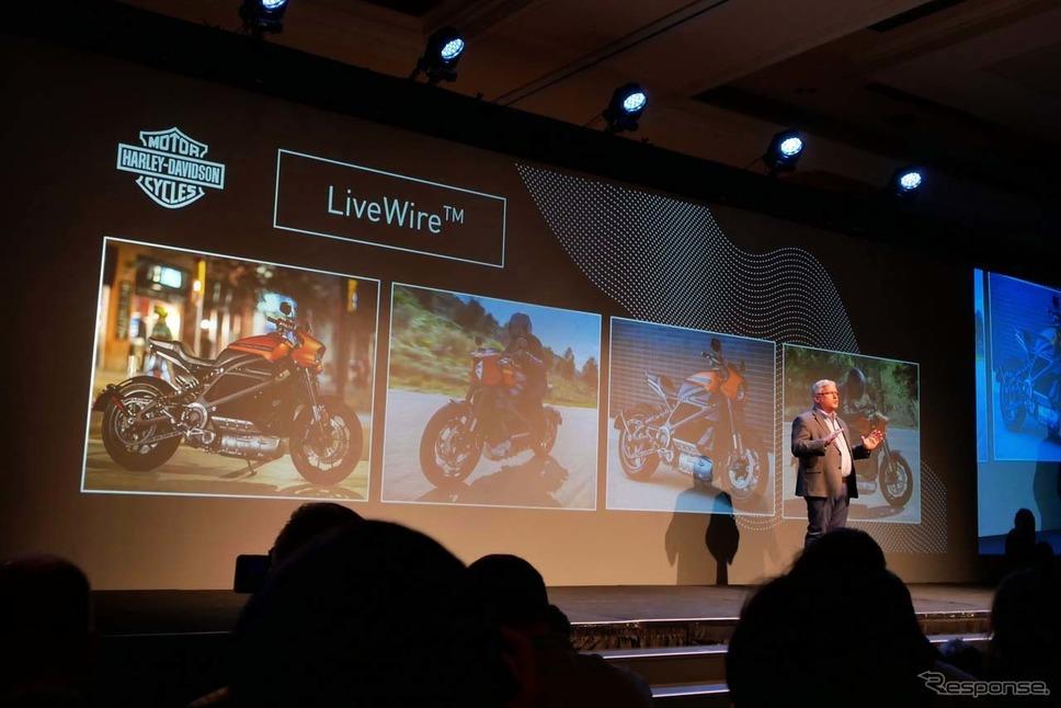ハーレーダビットソンの電動バイク「LiveWire」向けのコネクティッドサービスを紹介