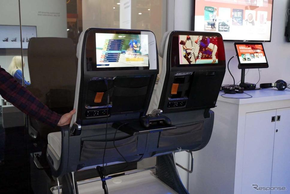 コンソールゲーム機に匹敵する画像で楽しめる機内エンターテインメントシステム