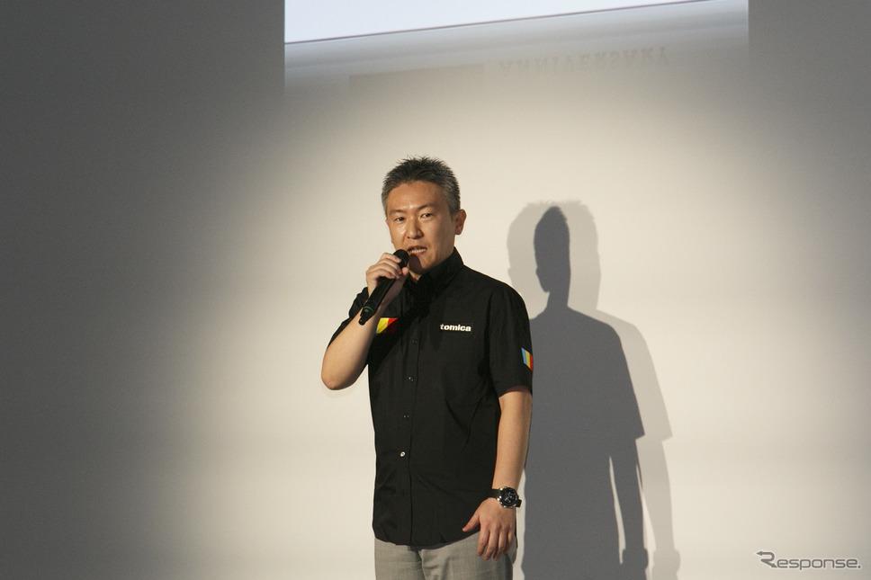 トミカマーケティング部 部長 岸田敬氏《撮影 佐藤隆博》