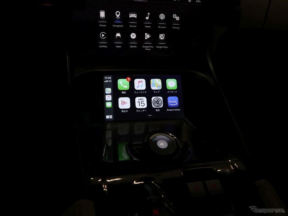 Android Auto、CarPlayにも対応《撮影:中尾真二》