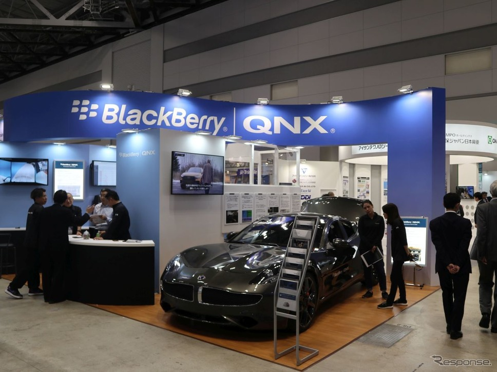 BlackBerry QNXのAIセキュリティソリューション(オートモーティブワールド2020)《撮影:中尾真二》
