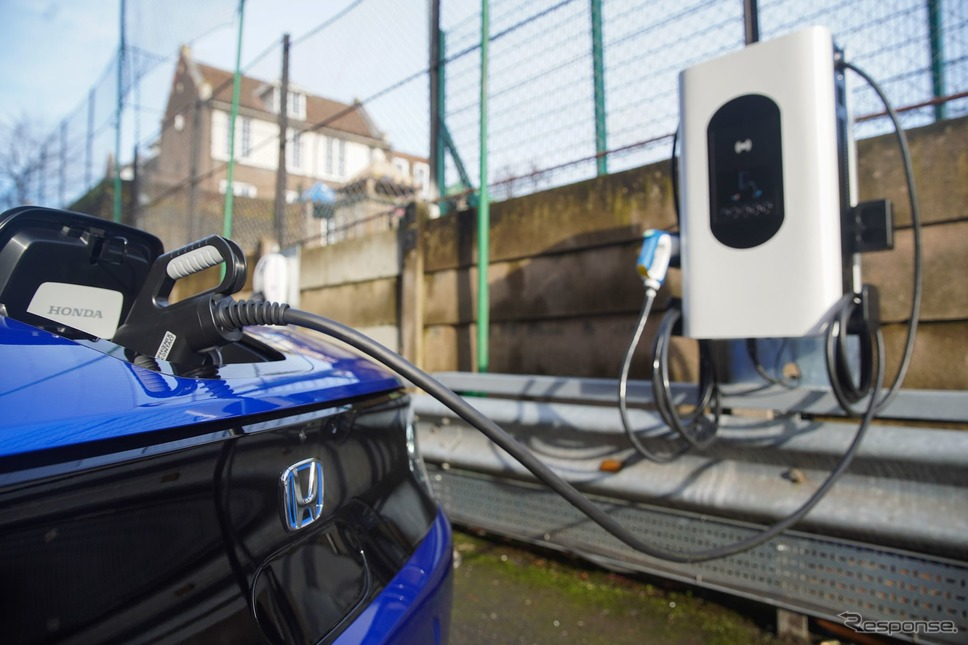 ホンダが英国ロンドンに設置した双方向のEV充電器《photo by Honda》