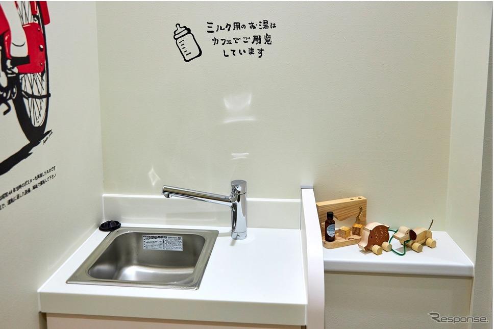 青山エリアでは希少な授乳室《写真 ホンダ》