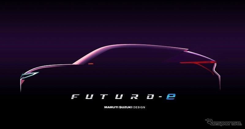 スズキ・コンセプト FUTURO-e のティザーイメージ《photo by Maruti Suzuki》