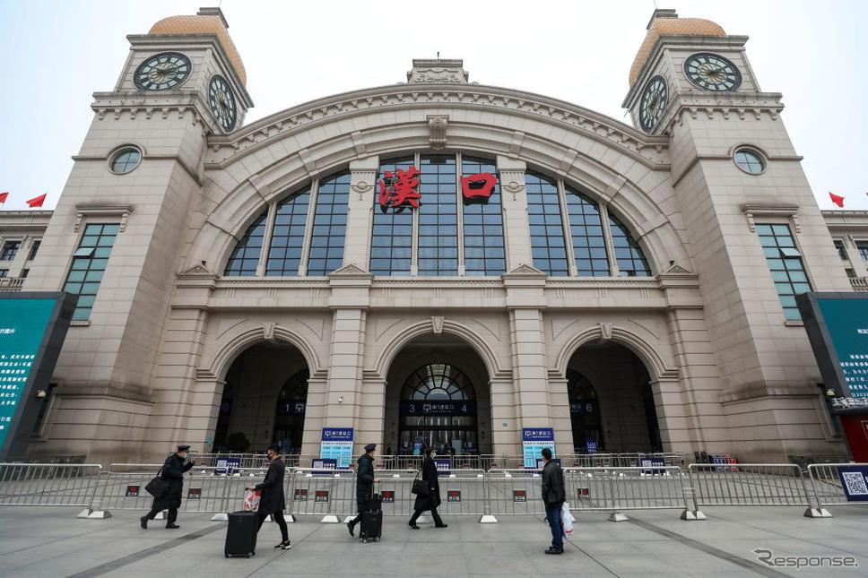 閉鎖された武漢市の漢口駅《photo (c) Getty Images》
