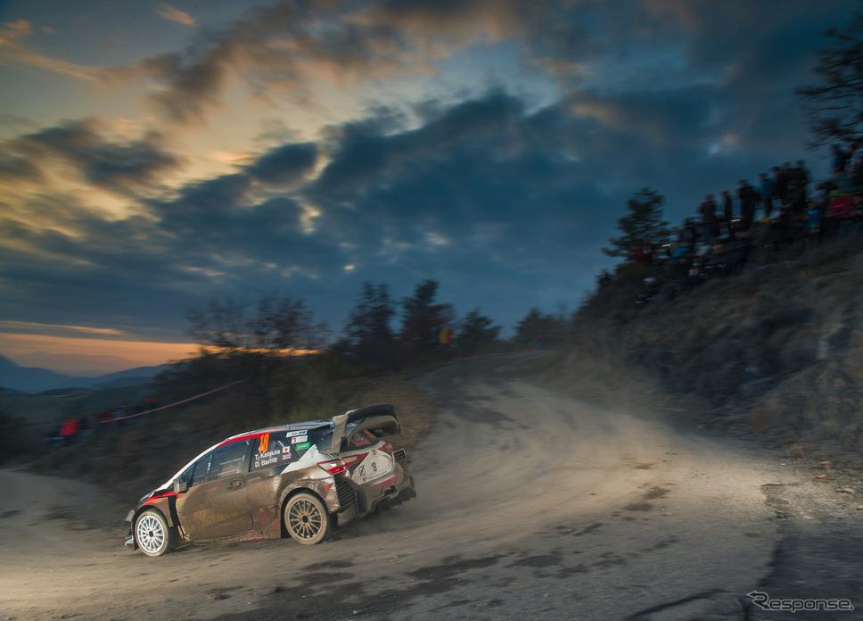 #18 勝田貴元(トヨタ)は今季WRC初戦を個人入賞圏(10位以内)の7位で完走した。《写真提供 TOYOTA》