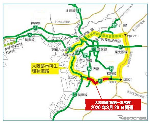 阪神高速6号大和川線《画像:阪神高速道路》