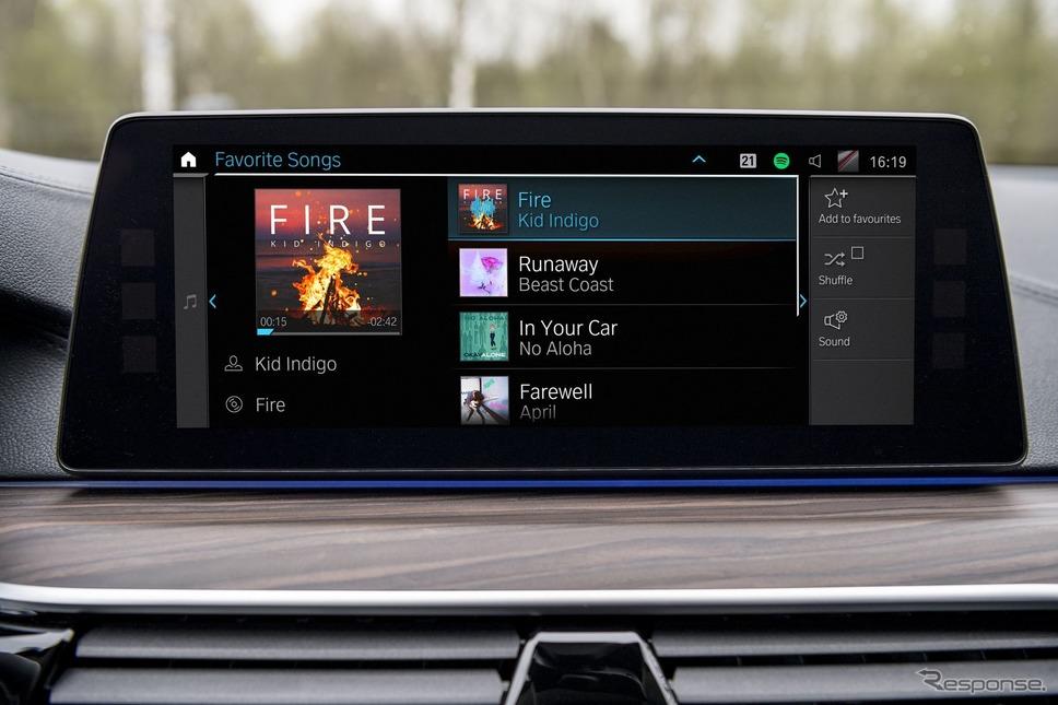 BMWグループの音楽ストリーミングサービスを車載化するための新開発プラットフォーム、「コネクテッドミュージック」《photo by BMW》
