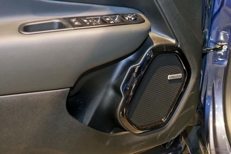 レネゲードに搭載されたケンウッド製オーディオ。イタリアのASK社が開発した《撮影 会田肇》