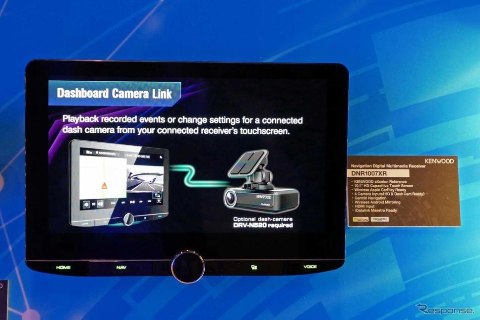 10.1型大画面ディスプレイを搭載した「DNR1007XR」はガーミン製ナビ機能を備える《撮影 会田肇》
