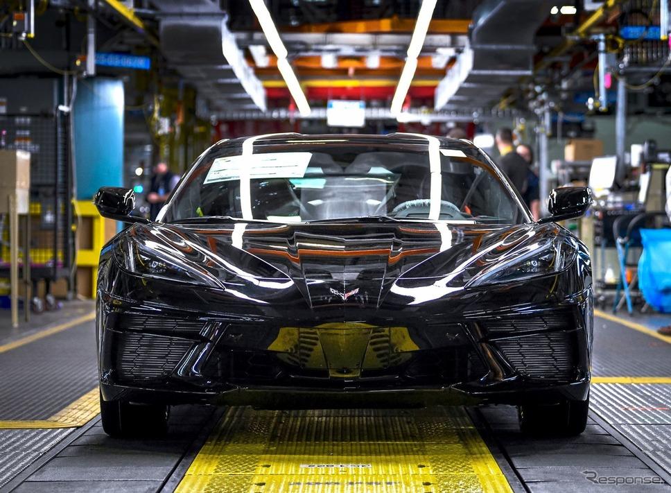 GMの米国ケンタッキー州のボウリンググリーン工場で量産が開始されたシボレー・コルベット ・スティングレイ 新型《photo by Chevrolet》