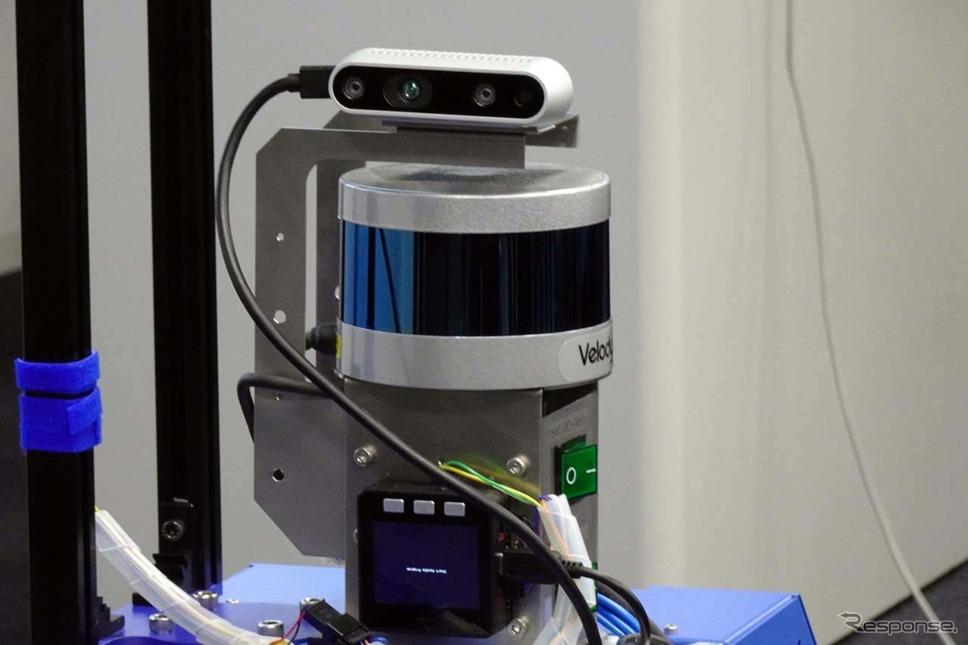 センサーにはカメラとLiDARを組み合わせて使用する