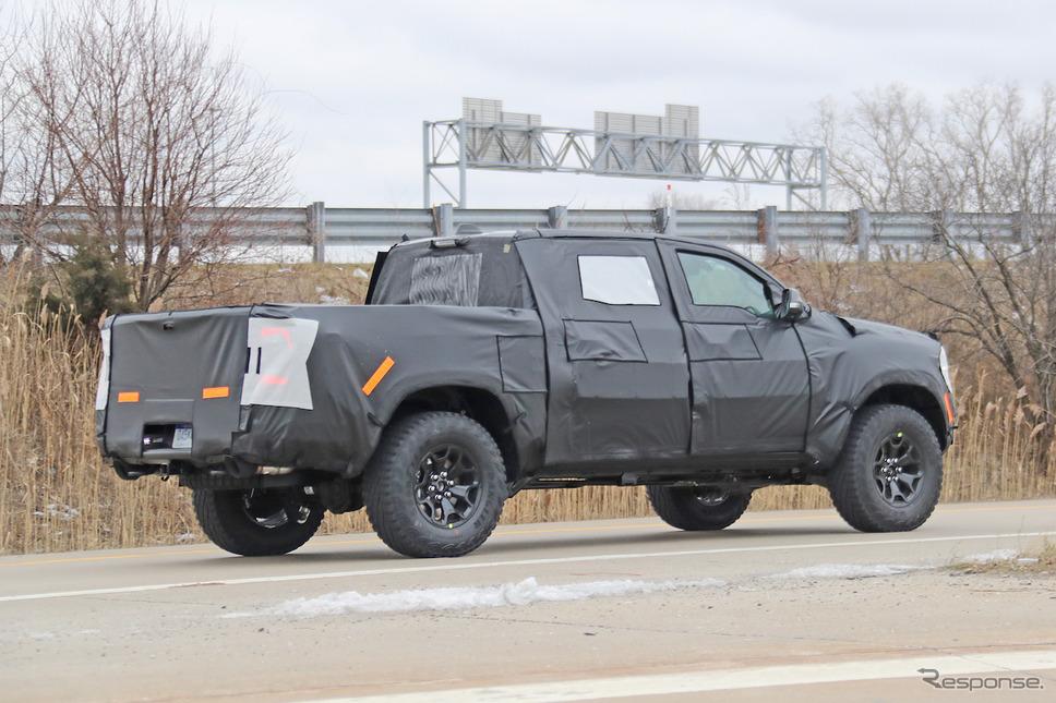 ダッジ ラムレベル TRX 市販型プロトタイプ(スクープ写真)《APOLLO NEWS SERVICE》