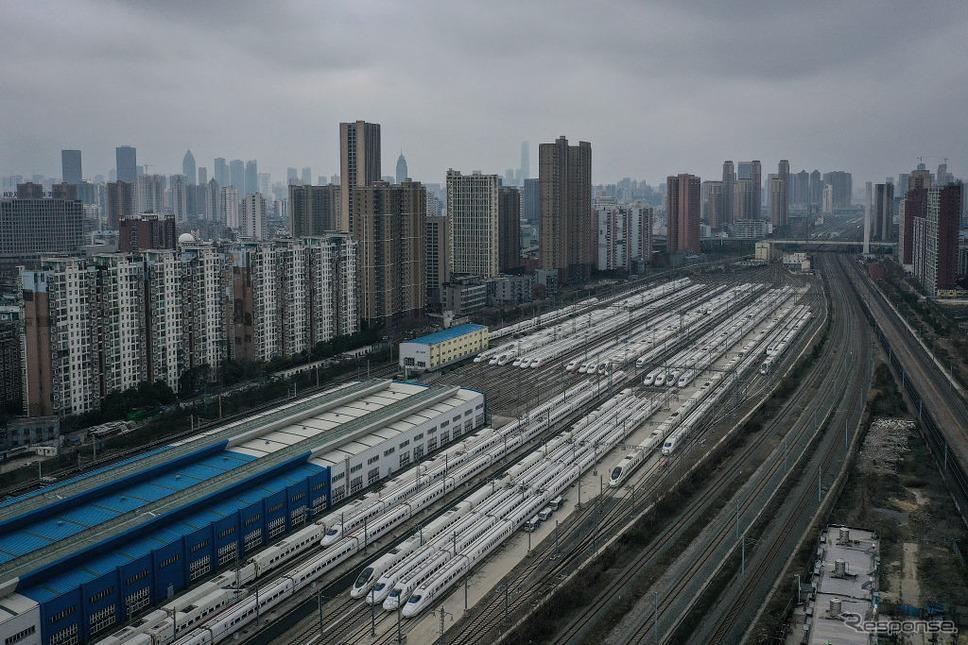 運転を休止した武漢市の鉄道(2月11日)《photo (c) Getty Images》