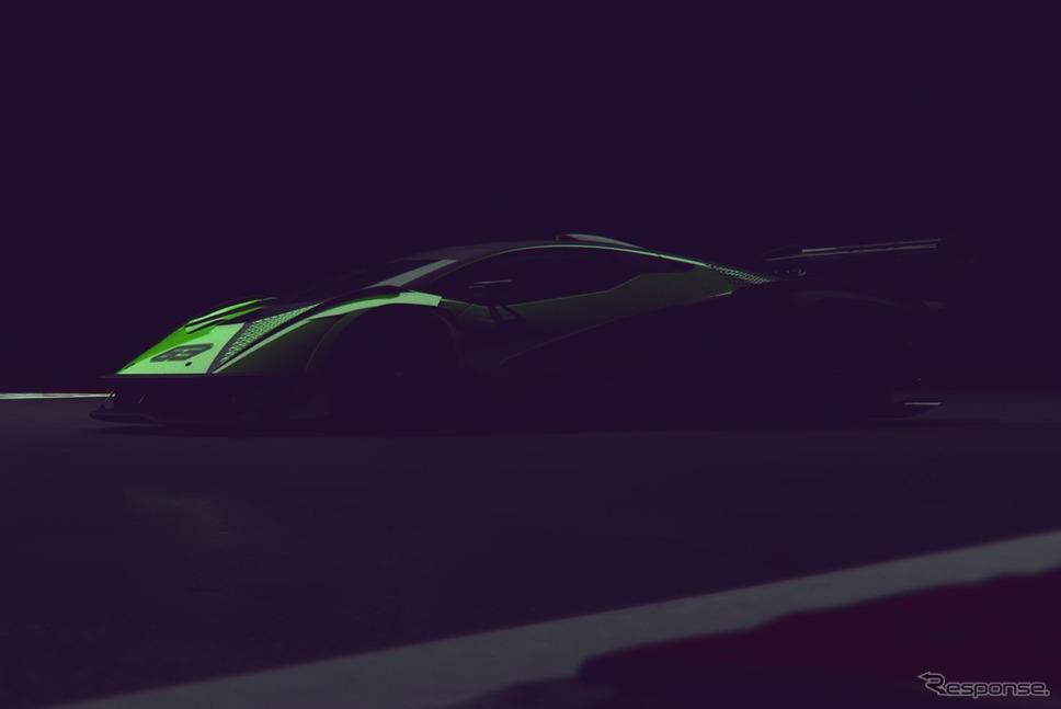 ランボルギーニの新型ハイパーカーのティザーイメージ《photo by Lamborghini》