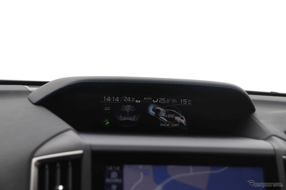 車内のトリムメーターは29度《撮影 中尾真二》