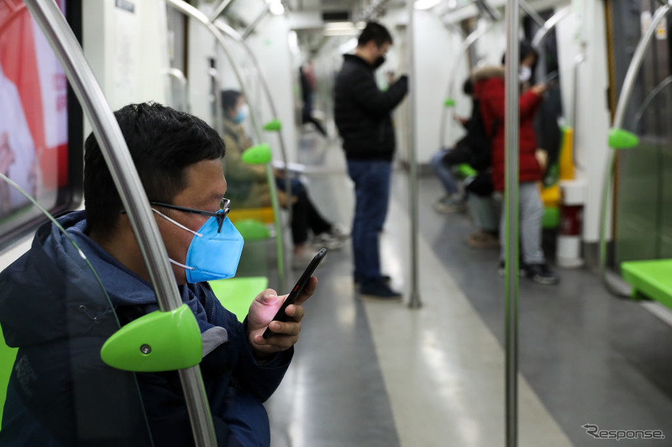 北京地下鉄(2月19日)《photo (c) Getty Images》