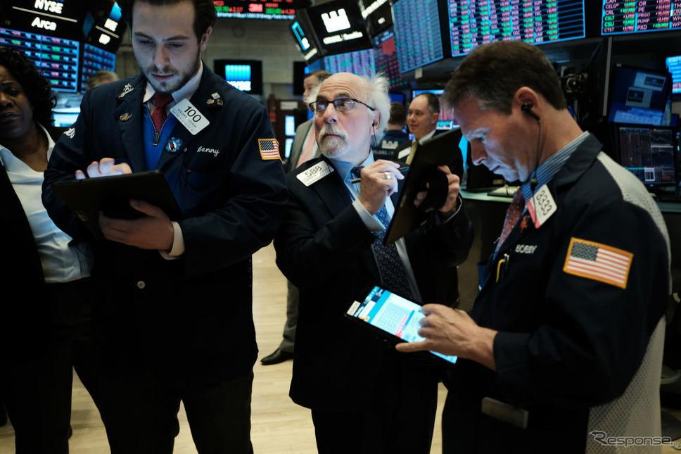 2月24日のニューヨーク株式市場《photo (c) Getty Images》