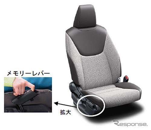 運転席イージーリターン機能《画像:トヨタ紡織》