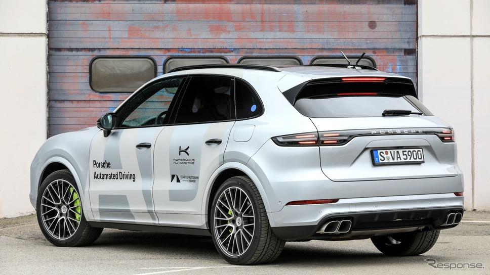 ポルシェ・カイエンをベースにした最新の自動運転プロトタイプ車《photo by Porsche》