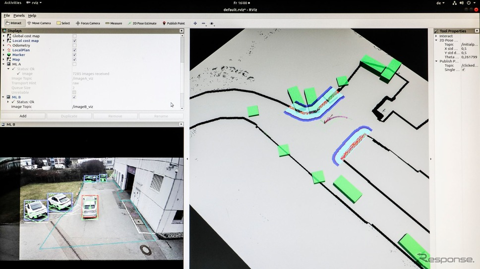 ポルシェ自動運転システム。修理工場の敷地を自動運転《photo by Porsche》