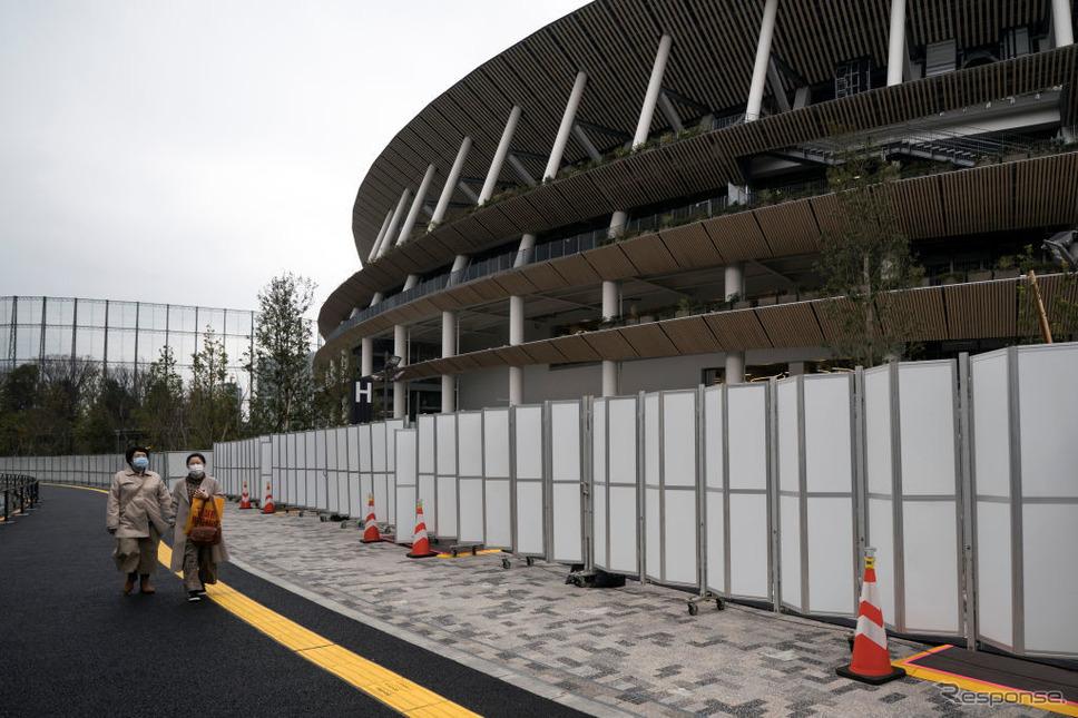新型コロナウィルスの感染拡大により、東京オリンピック・パラリンピックの開催が危惧されるまでになっている(2月26日、東京)。《photo (c) Getty Images》