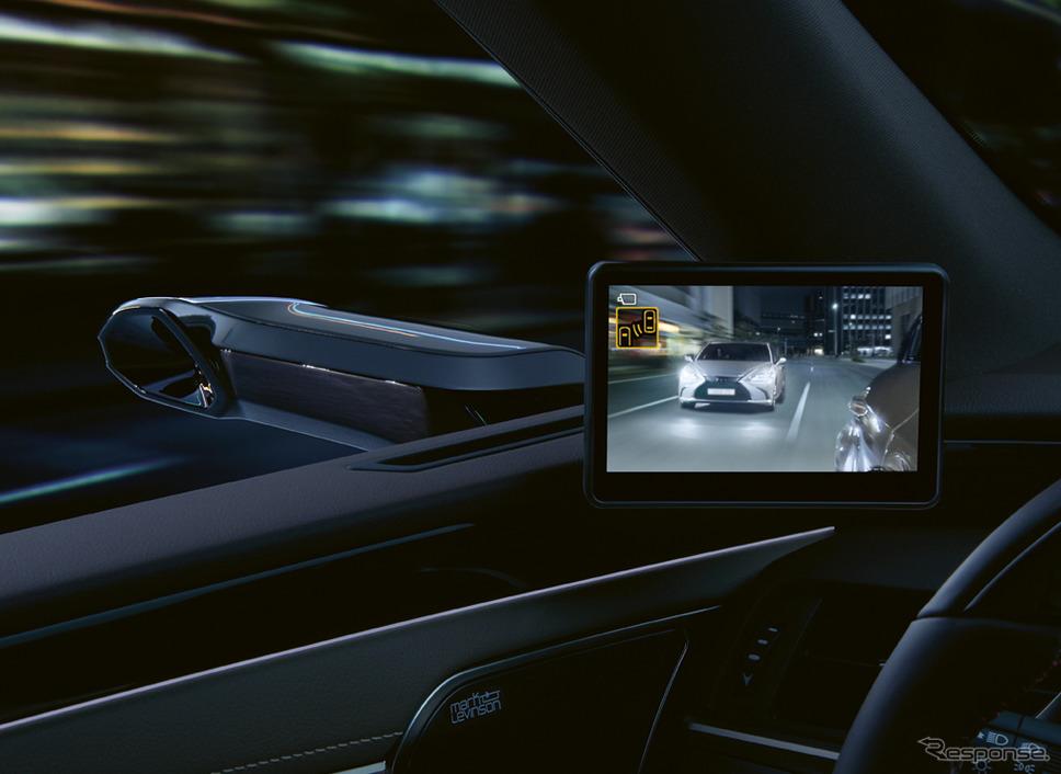 レクサス ES の2020年モデルのデジタルアウターミラー装着車(欧州仕様)《photo by Lexus》