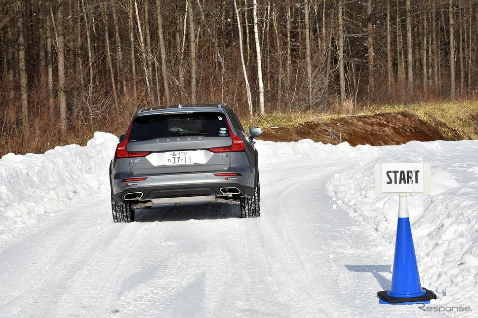 北海道の雪深いコースをボルボV60CCでテストドライブ《写真 中野英幸》