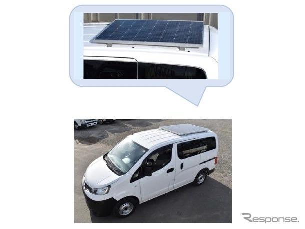 太陽光パネル搭載「移動事務所車」《画像:オリックス自動車》