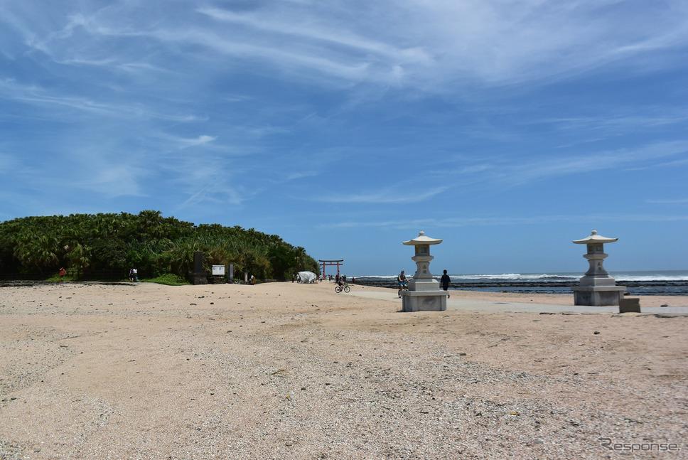 青島は島全体がサンクチュアリになっている。古代から祭祀が行われていた。《撮影 井元康一郎》
