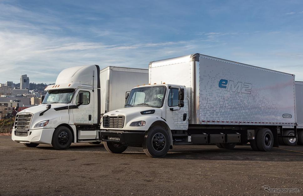 ダイムラートラックのeカスケーダとeM2《photo by Daimler》