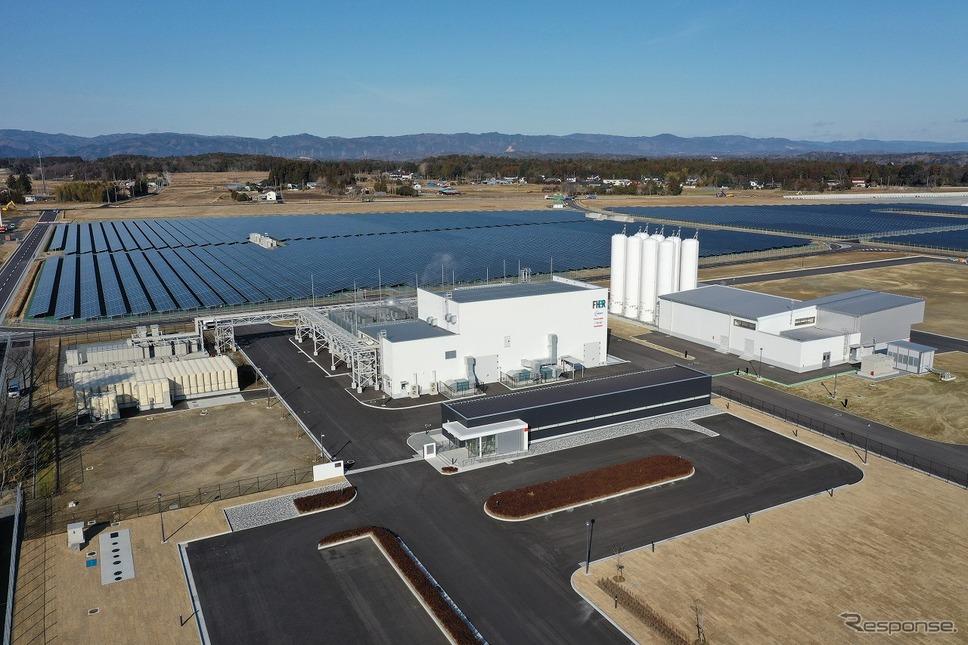 完成した福島水素エネルギー研究フィールド(FH2R)《画像:東芝エネルギーシステムズ》