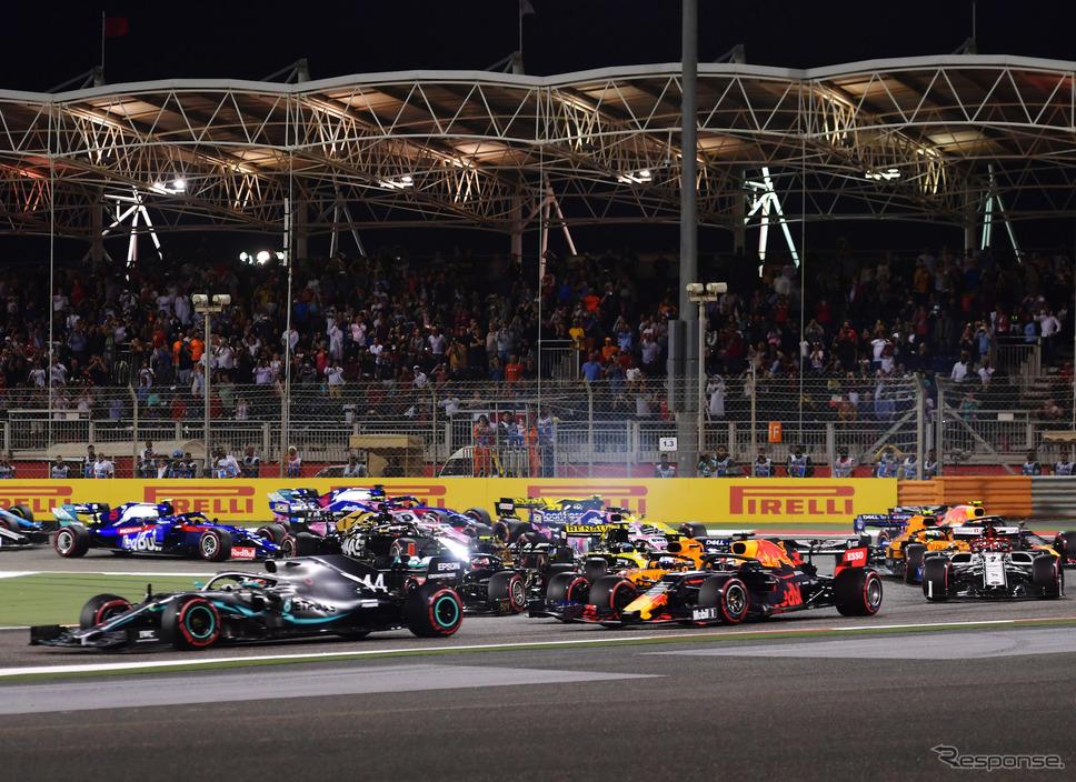 2019年F1バーレーンGPの模様。《写真提供 Pirelli》